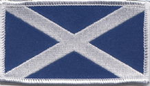 Scotland Saltire Large Rectangular Embroidered Patch (a158)